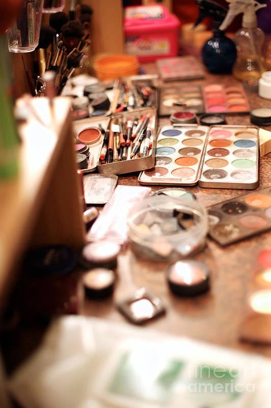 Makeup Art Print featuring the photograph Behind The Scenes, Make-up by Anna Jurkovska