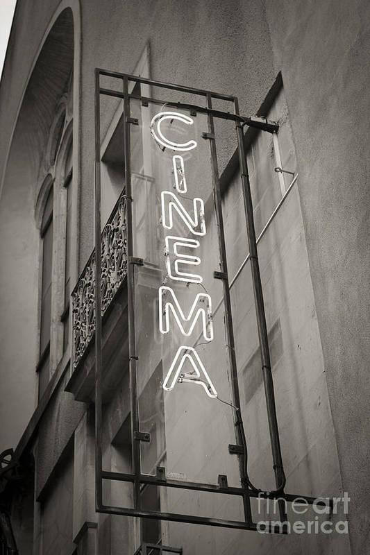 De Art Print featuring the photograph Cinéma De Quartier by Thomas Pajot