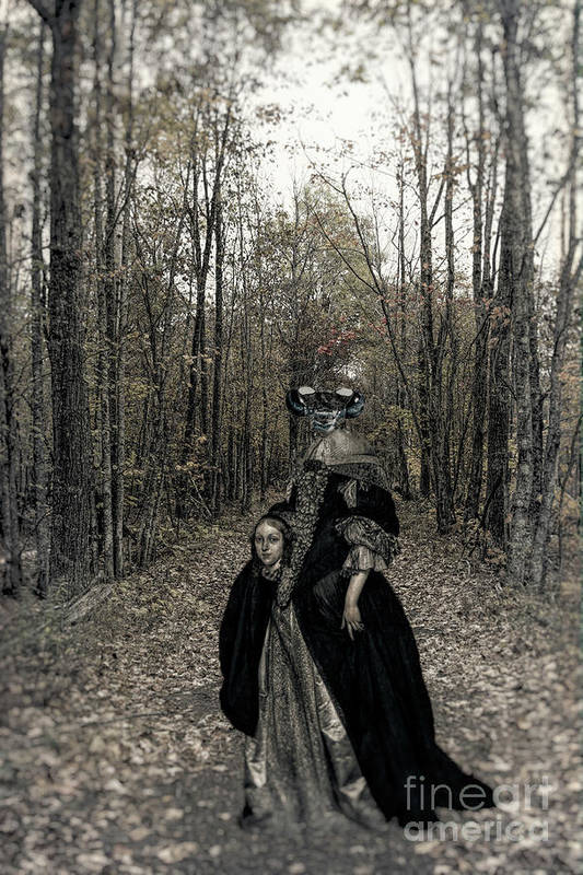 Surreal Art Print featuring the photograph Damsel Of The Forest by C L Lassila