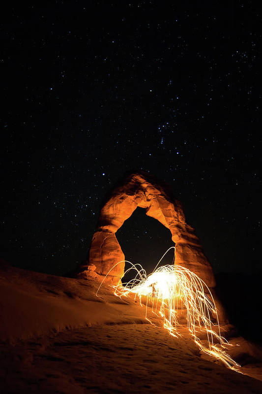 Delicate Arch Art Print featuring the photograph Delicate Arch Steel Wool by Nathan Bush