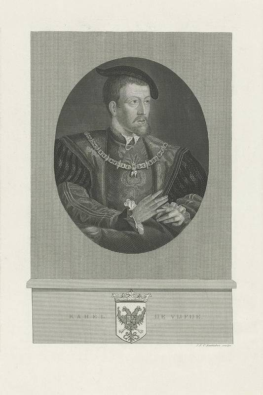 Emperor Art Print featuring the painting Portrait Of Charles V, Jan Frederik Christiaan Reckleben, 1847 - 1849 by Jan Frederik Christiaan Reckleben