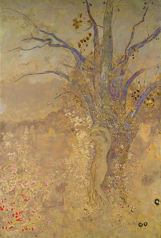 Odilon Redon Art Print featuring the painting Rebirth, Spring, 1908 by Odilon Redon