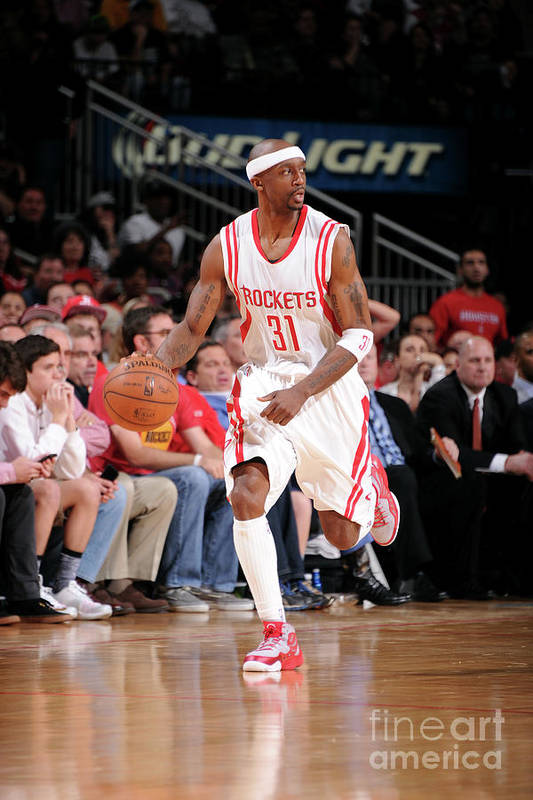 Jason Terry Art Print featuring the photograph San Antonio Spurs V Houston Rockets by Bill Baptist
