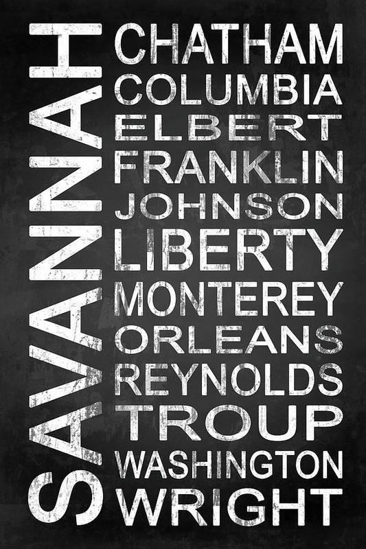 Savannah Art Print featuring the digital art Savannah Ga 2 by Melissa Smith