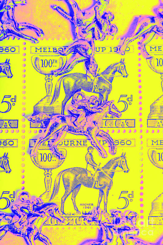 Retro Art Print featuring the photograph Stamps And Stallions by Jorgo Photography - Wall Art Gallery