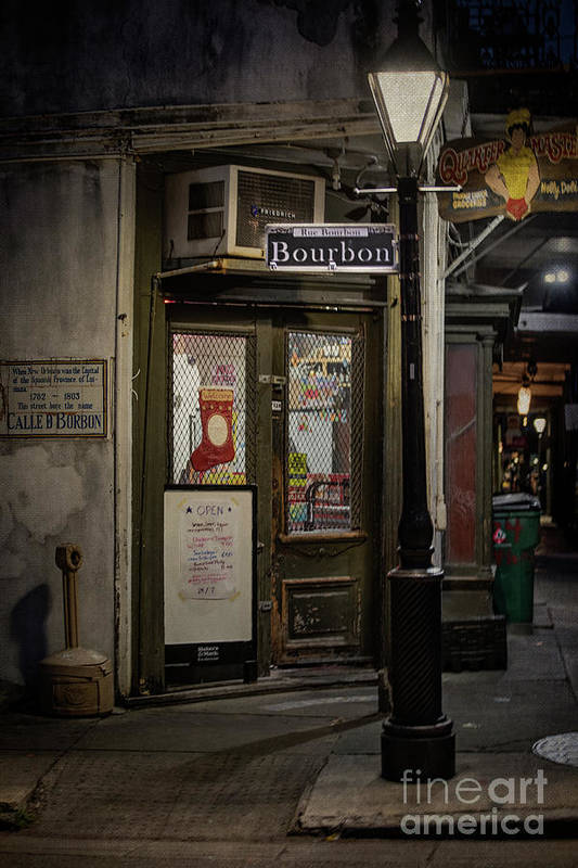 Bourbon Art Print featuring the photograph The Darkside Of Bourbon by Judy Wolinsky