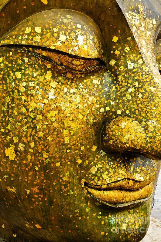 Symbol Art Print featuring the photograph The Face Of Buddha by Wasu Watcharadachaphong