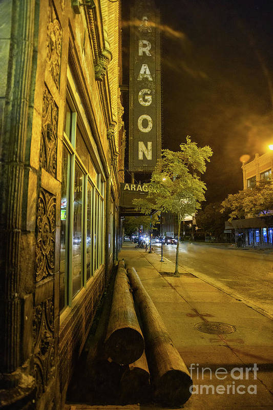 Aragon Art Print featuring the photograph The Uptown Aragon by Bruno Passigatti
