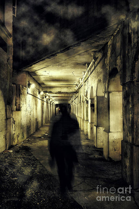 Alley Art Print featuring the photograph Urban Ghost by Bruno Passigatti