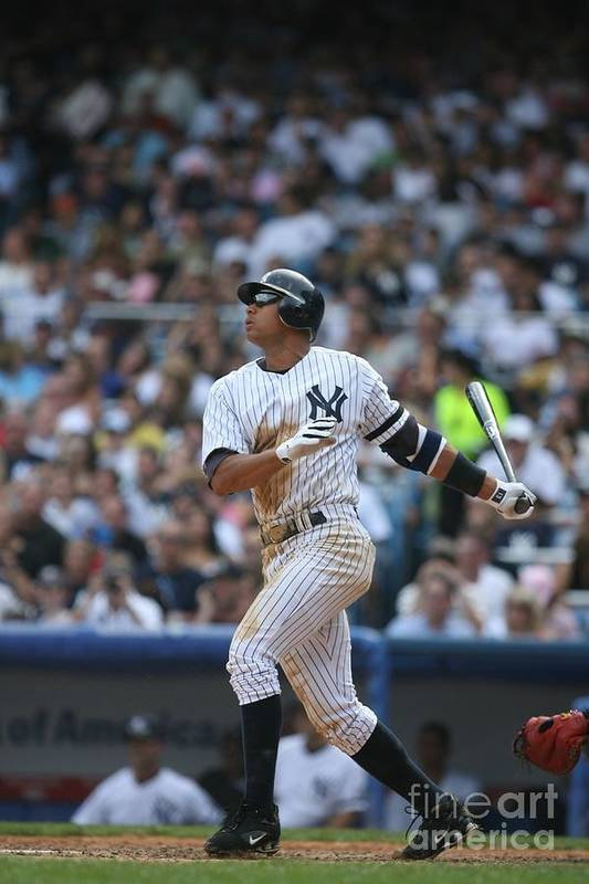 People Art Print featuring the photograph Alex Rodriguez by Rich Pilling