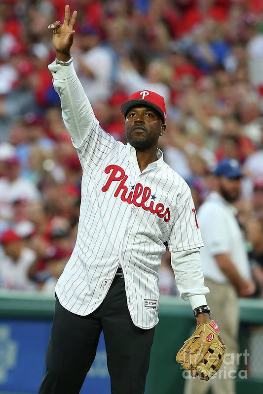 Three Quarter Length Art Print featuring the photograph Jimmy Rollins by Rich Schultz