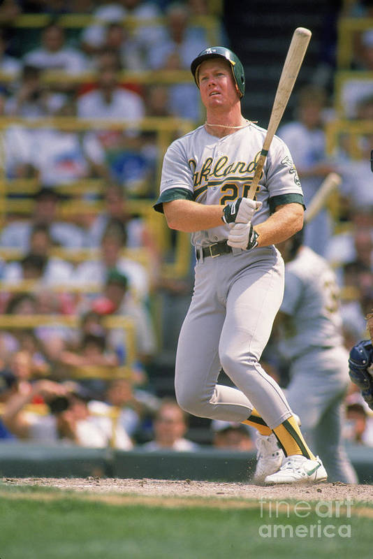 1980-1989 Art Print featuring the photograph Mark Mcgwire by Ron Vesely