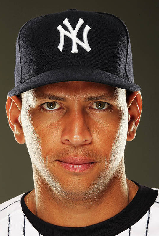 Media Day Art Print featuring the photograph Alex Rodriguez by Al Bello