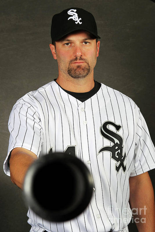 Media Day Art Print featuring the photograph Paul Konerko by Jamie Squire