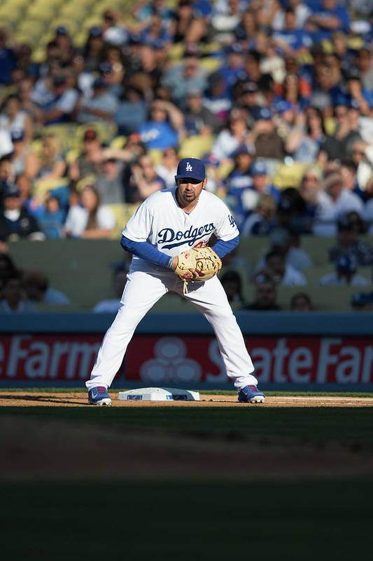 California Art Print featuring the photograph Adrian Gonzalez by Paul Spinelli