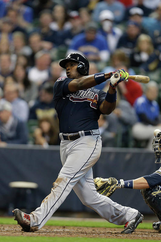 Home Base Art Print featuring the photograph Justin Upton by Mike Mcginnis
