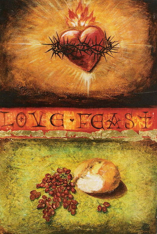 Love Feast Art Print featuring the painting Love Feast by Teresa Carter