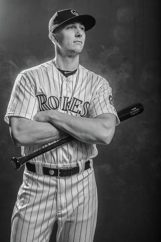 Media Day Art Print featuring the photograph Troy Tulowitzki by Rob Tringali