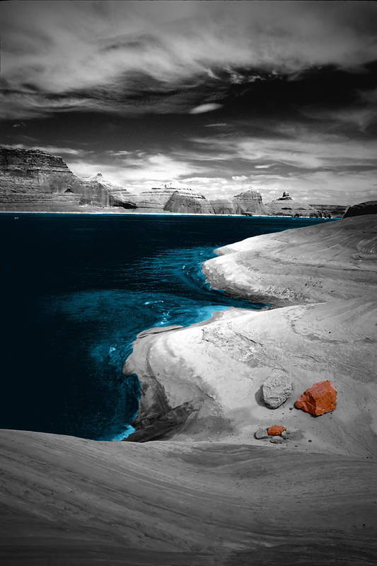 Photography Art Print featuring the photograph Liquid Blue Inlets by Tom Fant