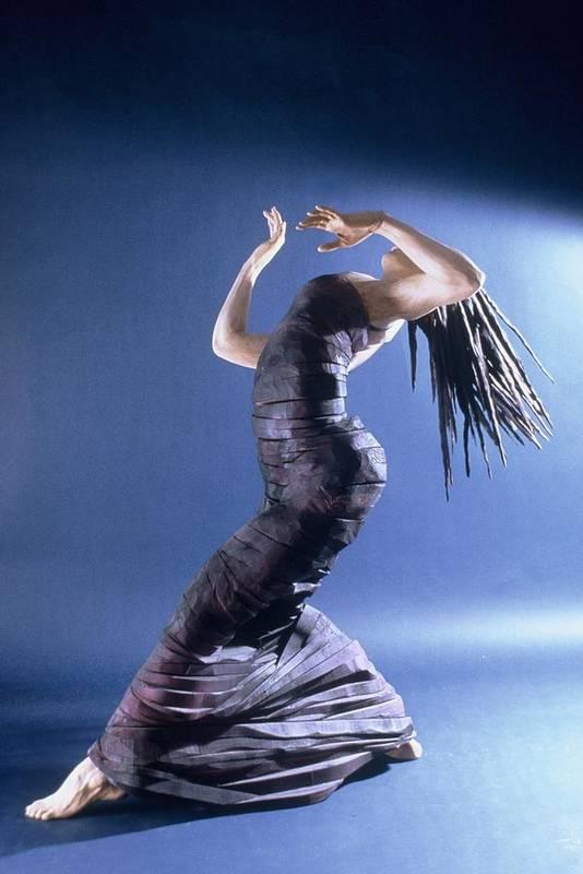 Dance Art Print featuring the sculpture African Dancer Left View by Gordon Becker