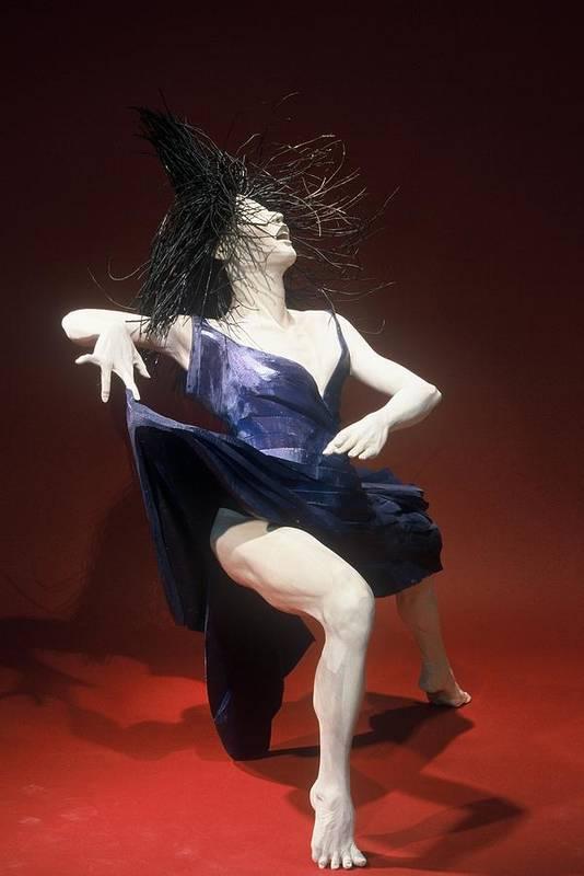 Dance Art Print featuring the sculpture Blue Dancer Right View by Gordon Becker