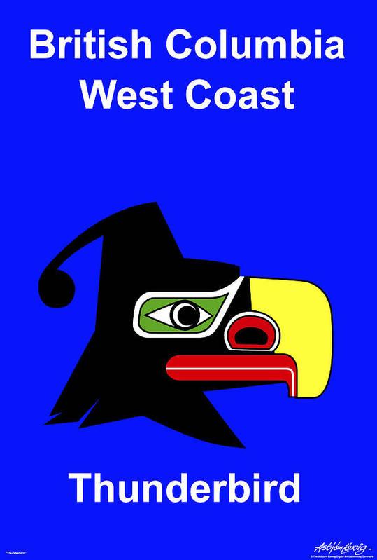 Print featuring the digital art British Columbia West Coast by Asbjorn Lonvig
