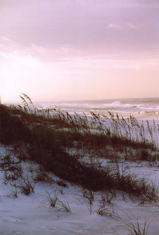 Ocean Art Print featuring the photograph Dune Sunrise by Deborah Gallaway