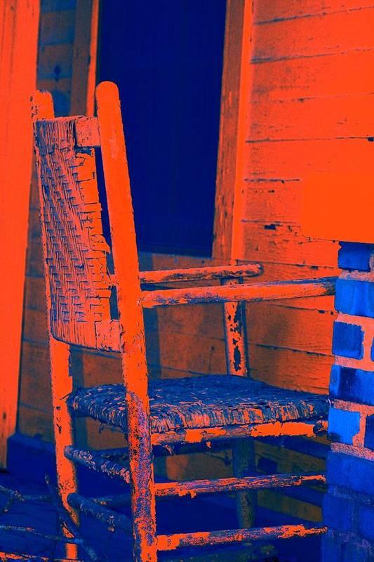 Chair Art Print featuring the digital art Rocking Chair by Lisa Johnston