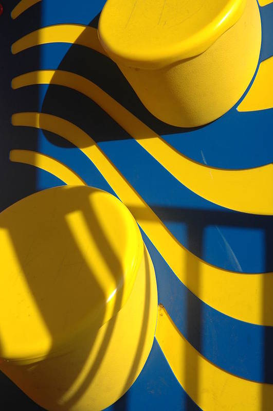 Yellow Art Print featuring the photograph Swirls Of Fun by Mickie Boothroyd