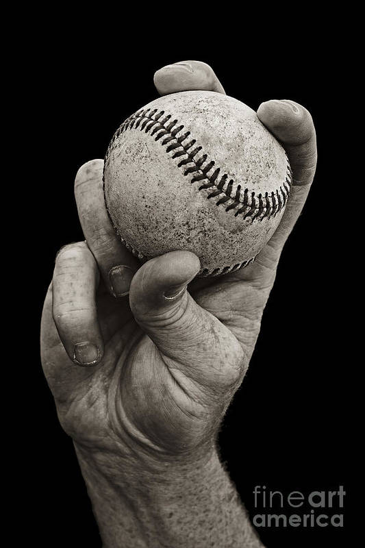Baseball Art Print featuring the photograph Fastball by Diane Diederich