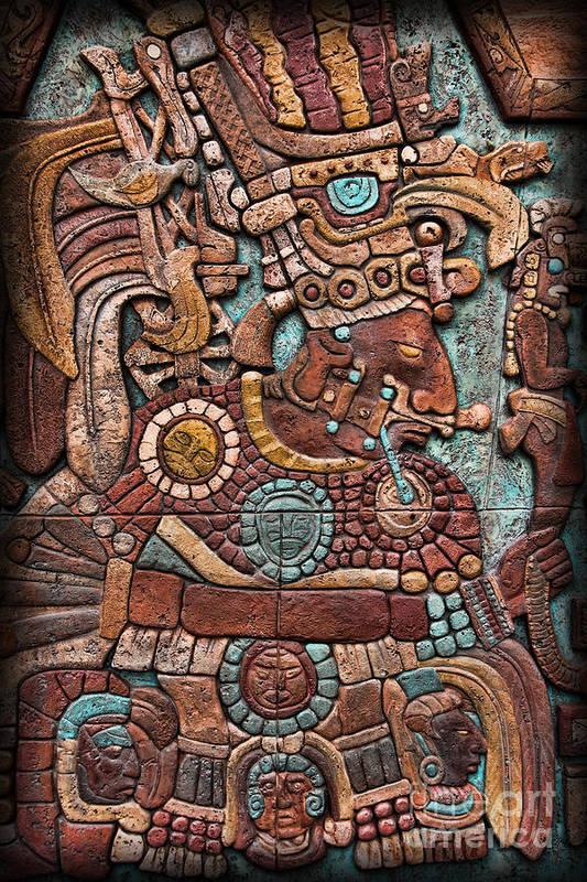 Mayan hieroglyphs Art Print by Lee Dos Santos