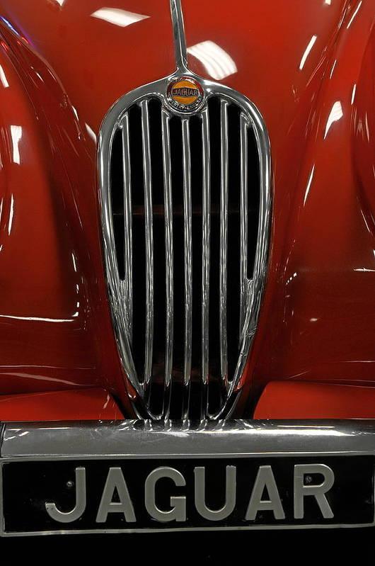 Cars Art Print featuring the photograph 1957 Jaguar XK 140 MC by Keith Gondron