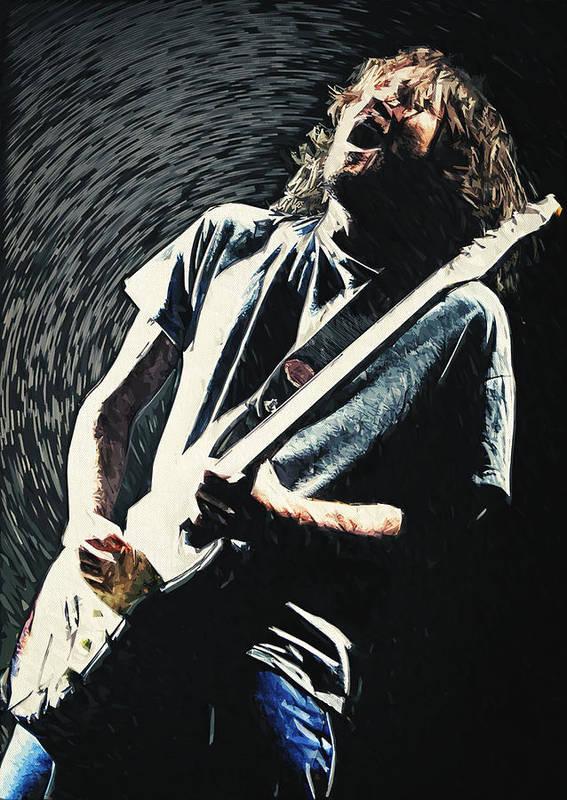 John Frusciante Art Print featuring the digital art John Frusciante by Zapista OU