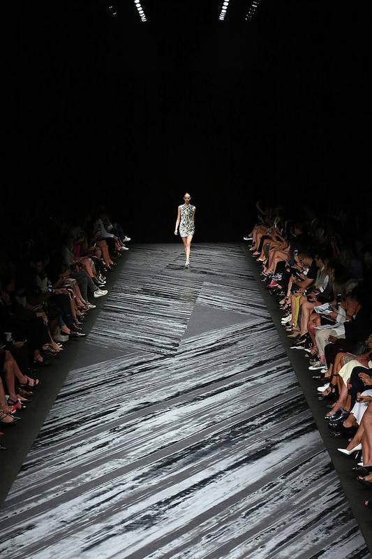 Fashion Model Art Print featuring the photograph Mercedes-benz Fashion Week Spring 2015 by Neilson Barnard