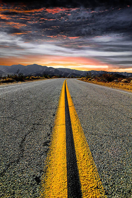 Desert Landscape Art Print featuring the photograph On Our Way by Ryan Weddle