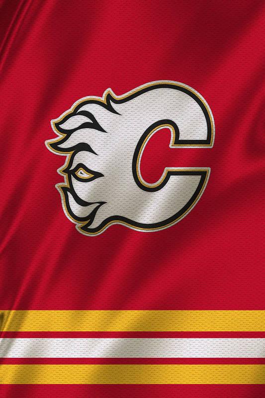 Calgary Flames Art Print By Joe Hamilton