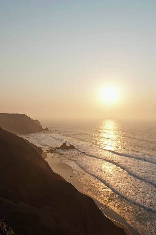 Algarve Art Print featuring the photograph Portugal, Algarve, Sagres, View Of by Westend61
