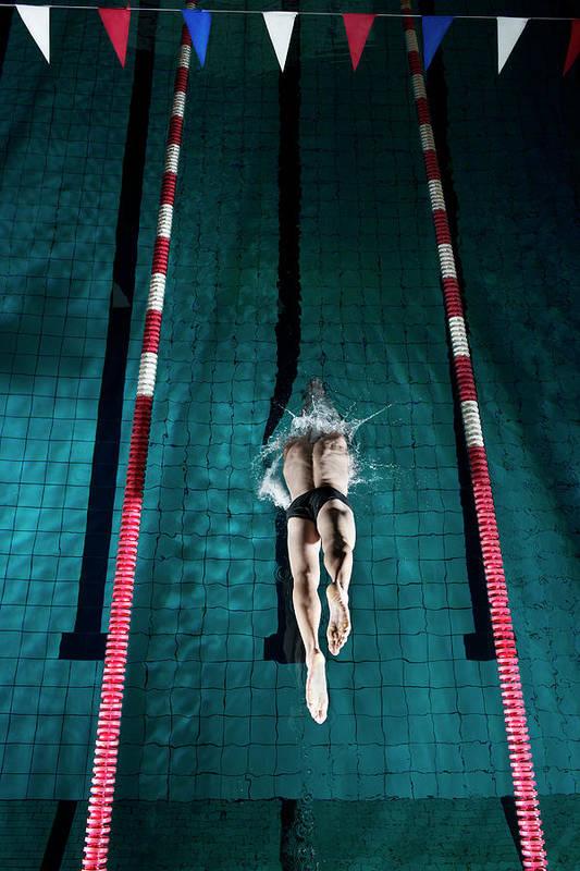 Copenhagen Art Print featuring the photograph Professional Swimmer by Henrik Sorensen