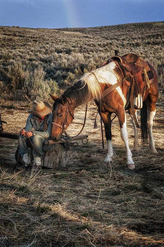 Sombrero Ranch Art Print featuring the photograph A Cowgirls Best Friend by Pamela Steege
