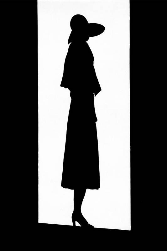 Fashion Art Print featuring the photograph A Silhouetted Woman by Barre
