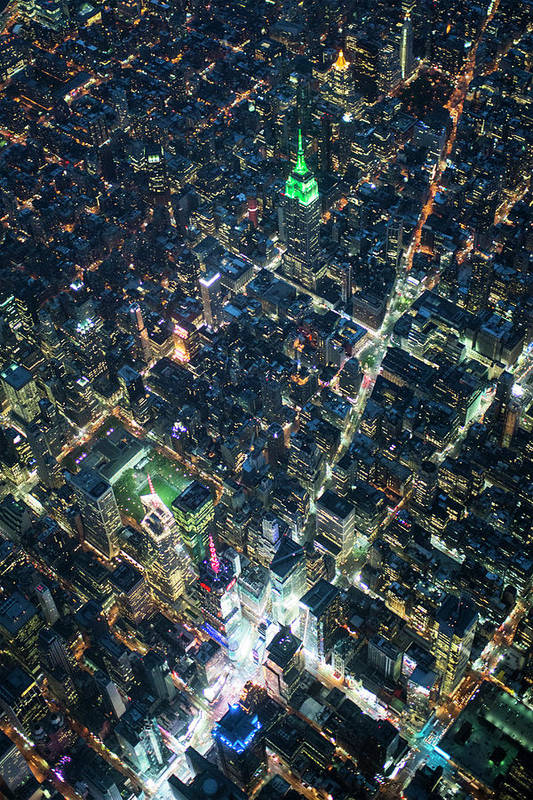 Outdoors Art Print featuring the photograph Aerial Photography Of Bloadway In Dusk by Michael H