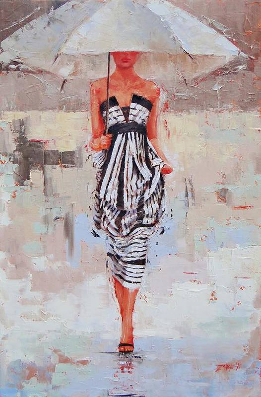 Laura Zanghetti Art Print featuring the painting All Dressed Up by Laura Lee Zanghetti