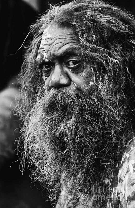 Australian Aboriginal Art Print featuring the photograph Australian aboriginal busker by Sheila Smart Fine Art Photography