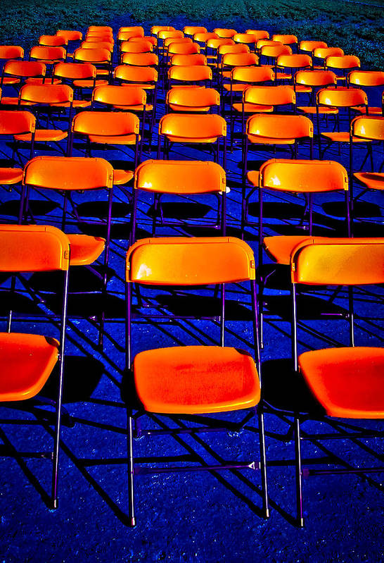 Chairs Art Print featuring the photograph Awaiting an Audience by Jim Painter
