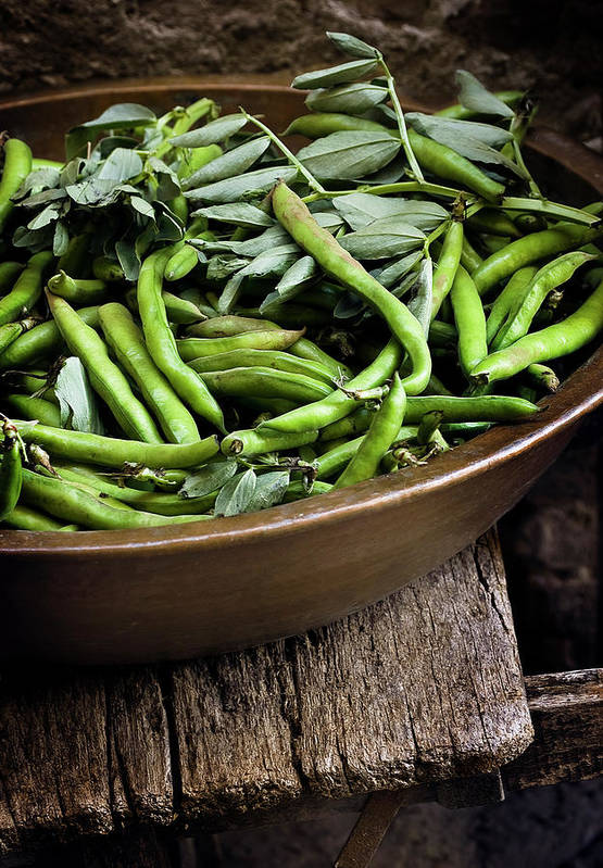 Outdoors Art Print featuring the photograph Beans by Bruno Ehrs