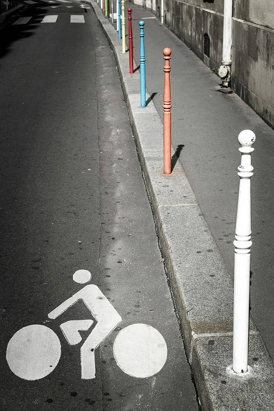 Pole Art Print featuring the photograph Bicycle Symbol In Paris by Carlos Sanchez Pereyra