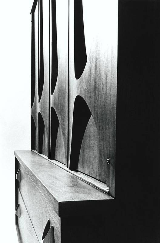Oscar Niemeyer Art Print featuring the photograph Cabinet Designed By M F Smith For Broyhill by William Grigsby