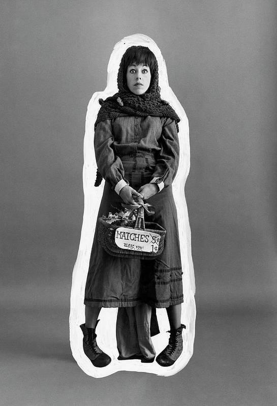 Actress Art Print featuring the photograph Carol Burnett Dressed As A Match-girl by Leonard Nones