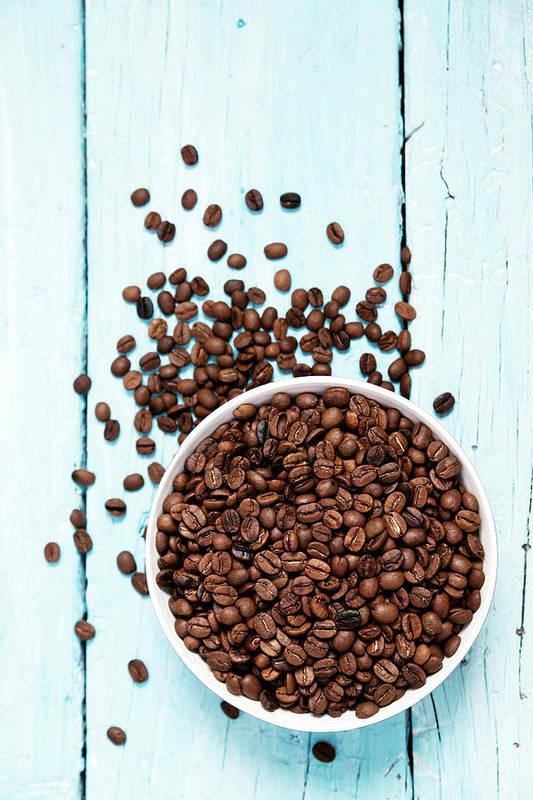 Heap Art Print featuring the photograph Coffee Beans by Barcin