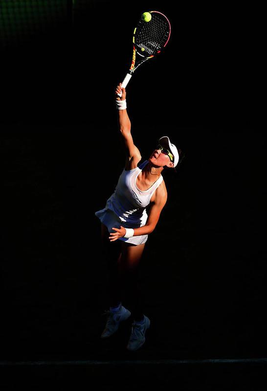Zheng Saisai Art Print featuring the photograph Day Two The Championships - Wimbledon by Shaun Botterill